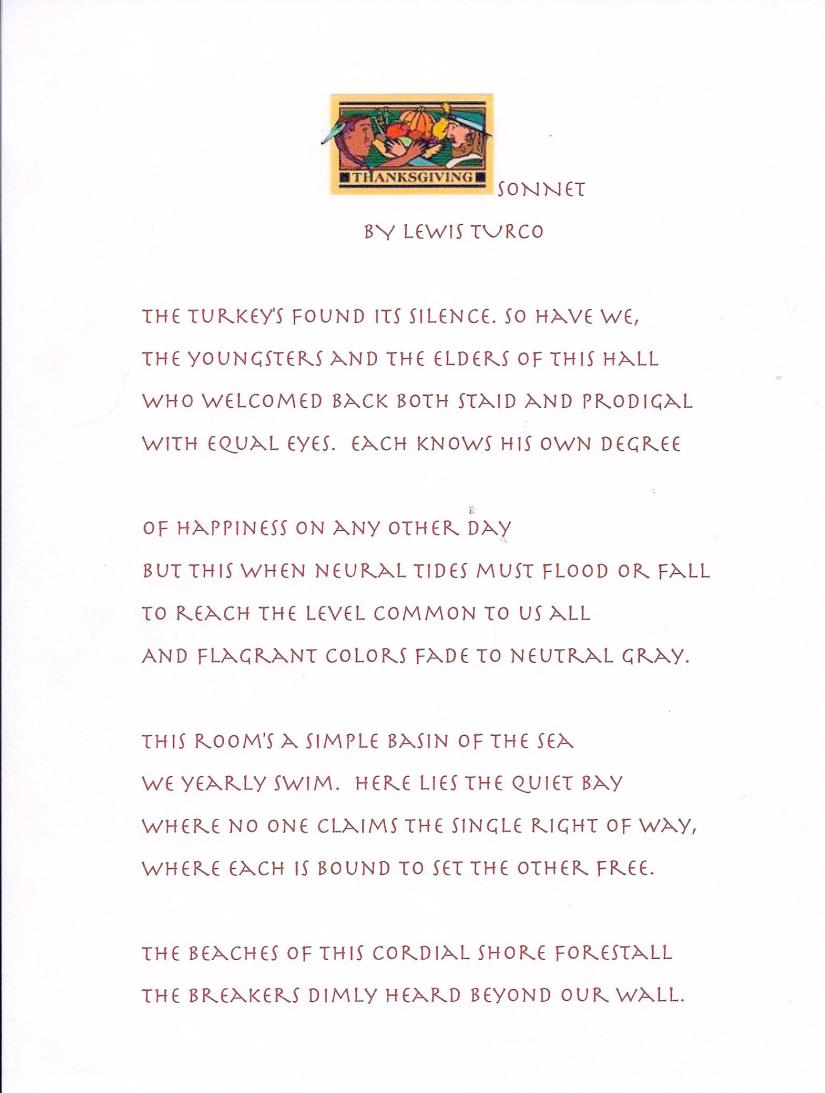 Thanksgiving Sonnet