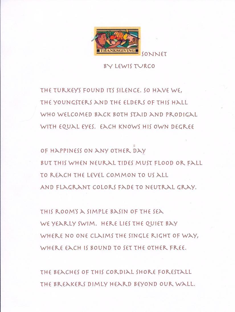 Thanksgiving Sonnet