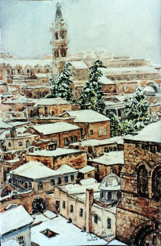 BOOK, snow in Old City J-m